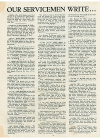 Letters written to the Fraternity from Brothers serving in the military during WWII.  (Click the images to enlarge)