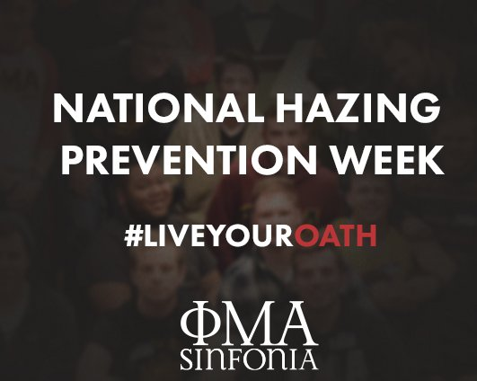 National Hazing Prevention Week 2018