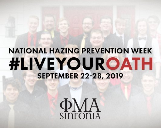 National Hazing Prevention Week 2019